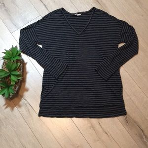 Madewell striped long sleeve top shirt blouse